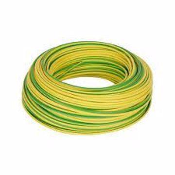 Afbeeldingen van Aardedraad 6mm² koper, groen/ geel, flexibel rol 100m¹