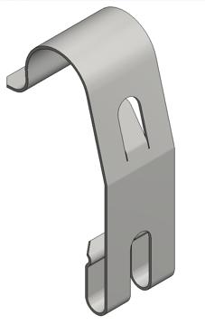 Afbeeldingen van Rvs dekselklem draadgoot h=60 clip-on
