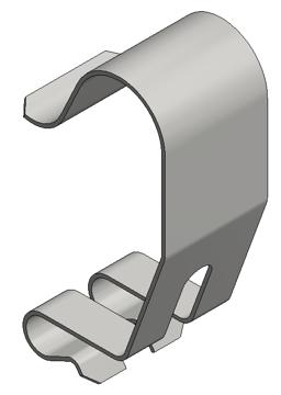 Afbeeldingen van Rvs dekselklem draadgoot h=35 clip-on