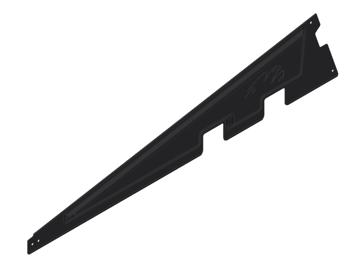 Afbeeldingen van Verz zijplaat ValkPro+ L10° universeel ZWART