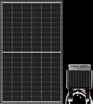 Afbeeldingen van SolarEdge 365Wp zilver frame geïntegreerde optimizer